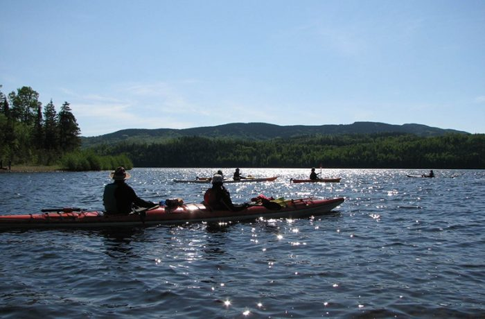 Kayakiste sur Grand Lac Ha! Ha!